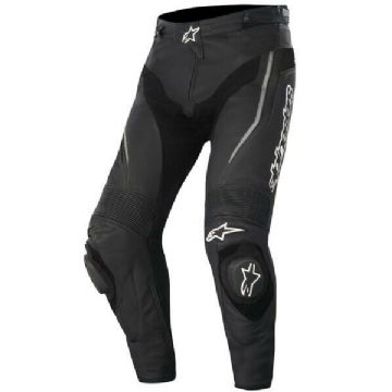 Alpinestars Track Leather Motorcycle Motorbike Sport Race Pants Jeans Trousers